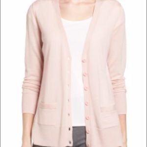 Halogen Pink Cardigan Sweater | Size Small